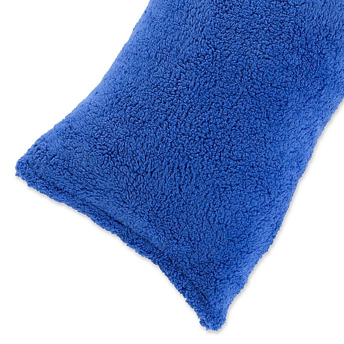 Alternate image 1 for Nottingham Home Sherpa Body Pillow Cover in Blue