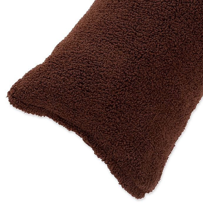 Alternate image 1 for Nottingham Home Sherpa Body Pillow Cover in Chocolate
