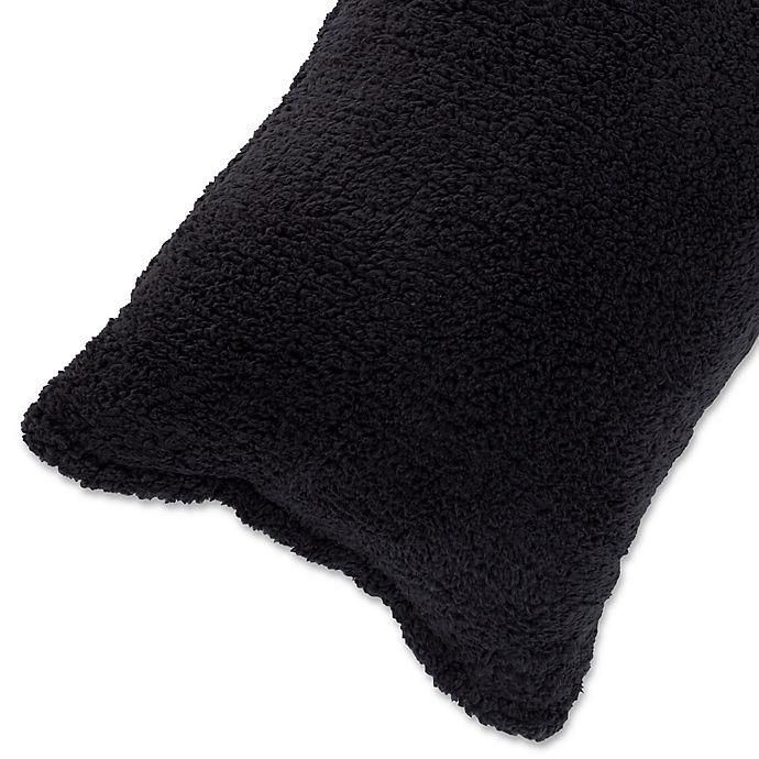 Alternate image 1 for Nottingham Home Sherpa Body Pillow Cover in Black