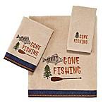 Avanti Gone Fishing Fingertip Towel in Linen