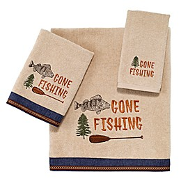 Avanti Gone Fishing Bath Towel in Linen