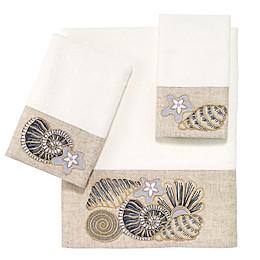 Avanti Shell Bath Towel Collection in White