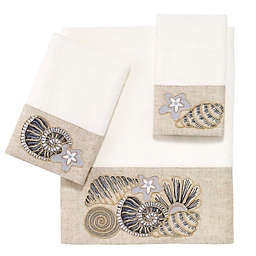 Avanti Shell Bath Towel Collection in White