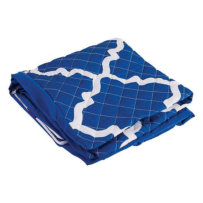 Alternate image 1 for 7-Inch Premium Bed Wedge Cover in Blue/White