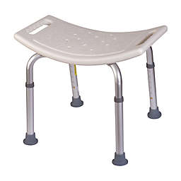 HealthSmart Compact Bath and Shower Stool in White