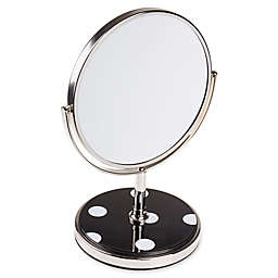 kate spade new york Deco Dot Vanity Mirror in Black