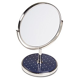 kate spade New York Pin Dot Vanity Mirror in Navy