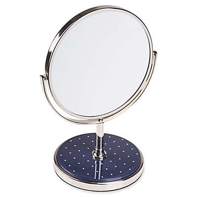 kate spade New York Pin Dot Vanity Mirror in Navy