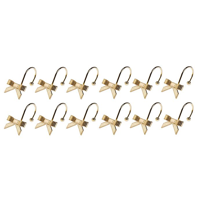 Alternate image 1 for kate spade New York Bow Shower Curtain Hooks