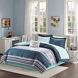 Intelligent Design Gemma Comforter Set in Blue