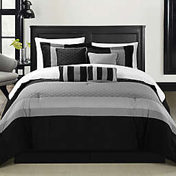 Chic Home Dreamz 8-Piece Comforter Set in Black