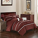 Chic Home Aero 10-Piece Queen Comforter Set in Brick