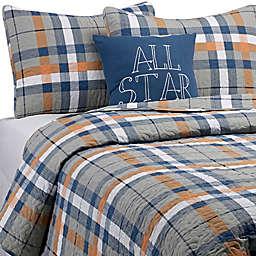 Plaid Quilt Set in Orange