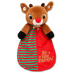 """""""My First Rudolph"""" Snuggle Blanket and Toy"""