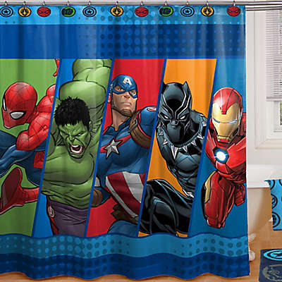 "Marvel® Comics ""Good Guys"" 72-Inch x 72-Inch Shower Curtain"