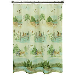 Bacova Woodland Dogs Shower Curtain