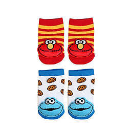 Sesame Street® 2-Pack Cookie Monster and Elmo Socks in White