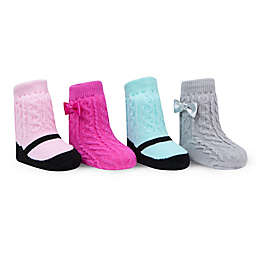 Waddle Size 0-12M 4-Pack Cable Knit Socks