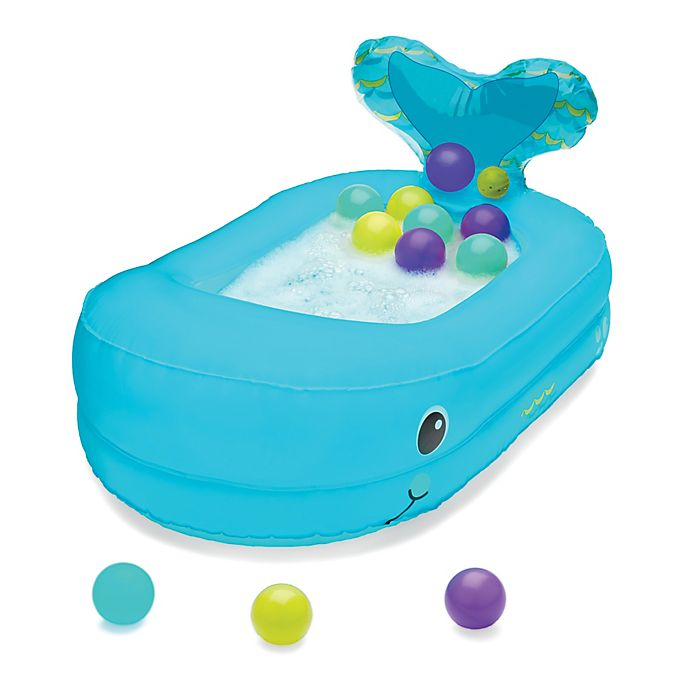Alternate image 1 for Infantino® Whale Bubble Ball Inflatable Bath Tub