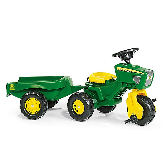 Alternate image 1 for Kettler® John Deere 3-Wheel Tractor with Trailer in Green/Yellow
