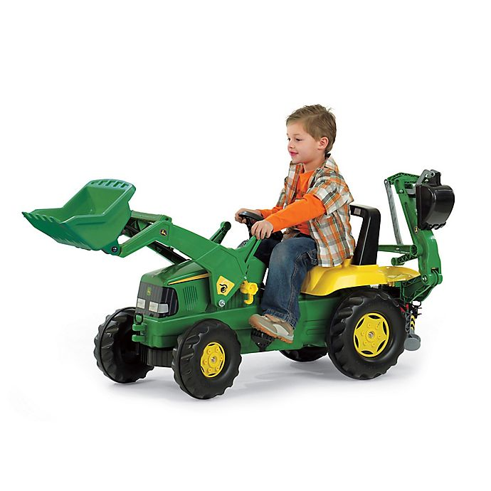 Alternate image 1 for Kettler® John Deere Backhoe Loader in Green/Yellow