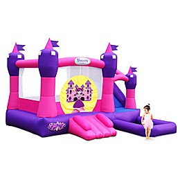 Blast Zone Princess Palace Inflatable Combo with Slide