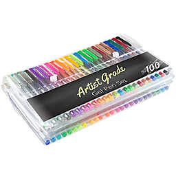 Trademark Games Artist Grade 100-Count Color Gel Pen Set