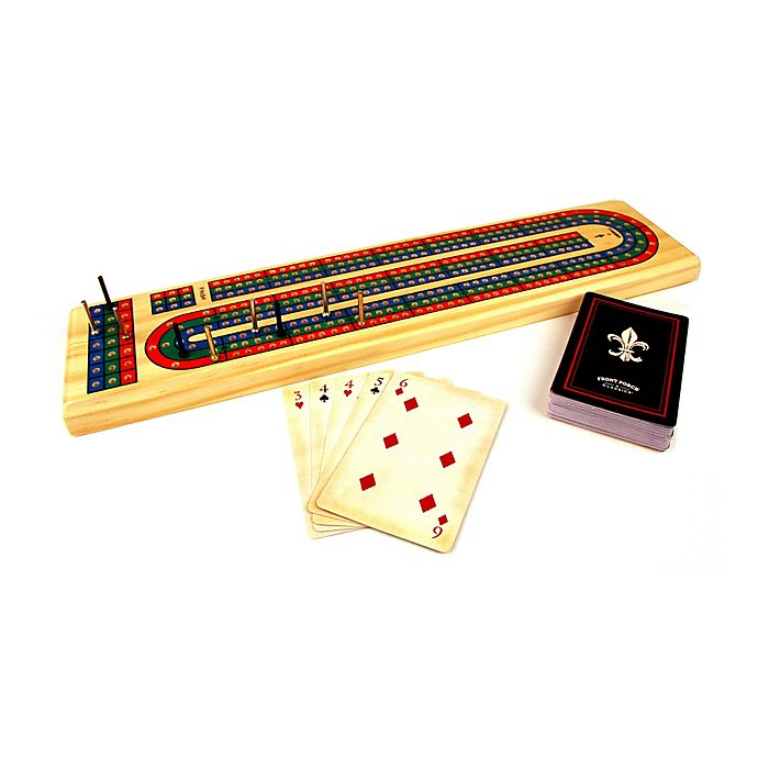 Alternate image 1 for Front Porch Classics Solid Wood Cribbage Game