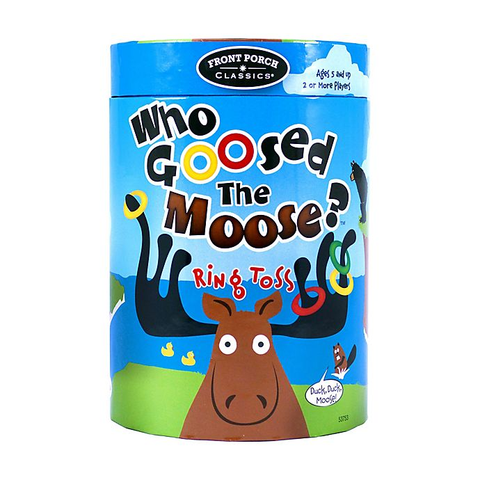 Alternate image 1 for Front Porch Classics Who Goosed the Moose? Ring Toss Game