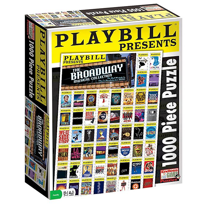 Alternate image 1 for Endless Games Playbill Best of Broadway 1000-Piece Jigsaw Puzzle