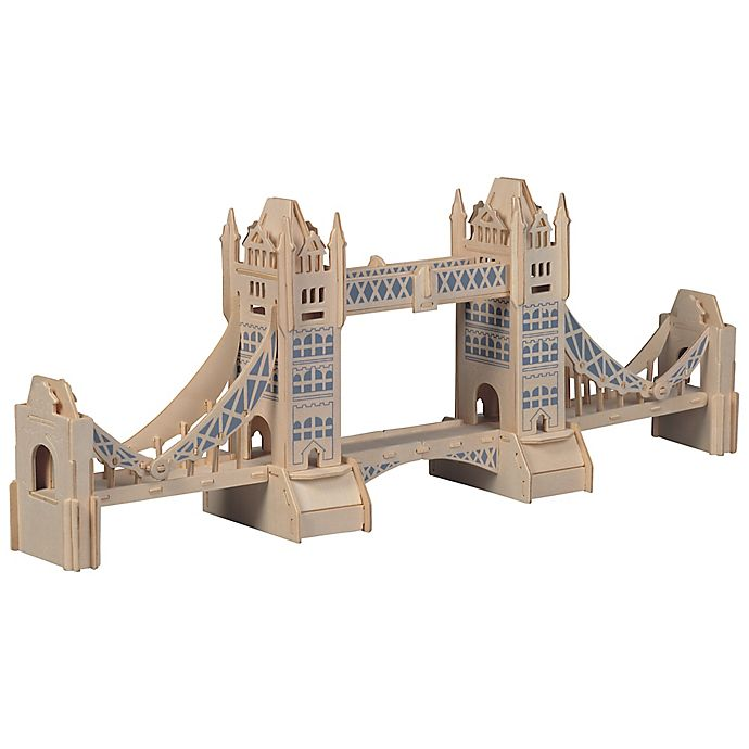 Alternate image 1 for Puzzled London Tower 104-Piece 3D Wooden Puzzle