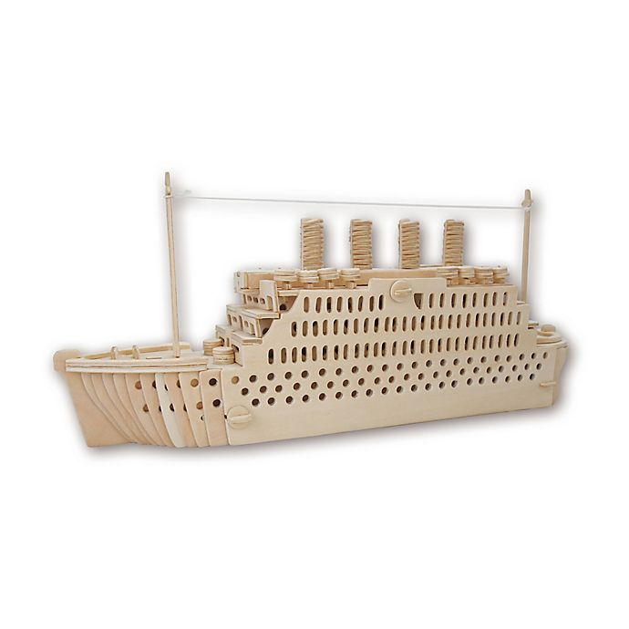 Alternate image 1 for Puzzled Titanic 178-Piece 3D Wooden Puzzle