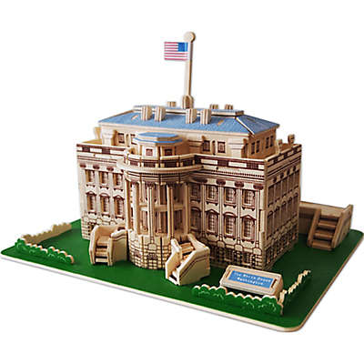 Puzzled The White House 128-Piece 3D Wooden Puzzle