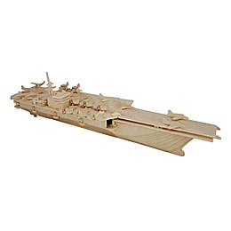 Puzzled Aircraft Carrier 170-Piece 3D Wooden Puzzle