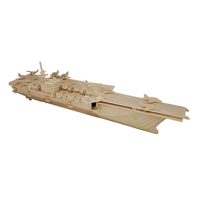 Alternate image 1 for Puzzled Aircraft Carrier 170-Piece 3D Wooden Puzzle