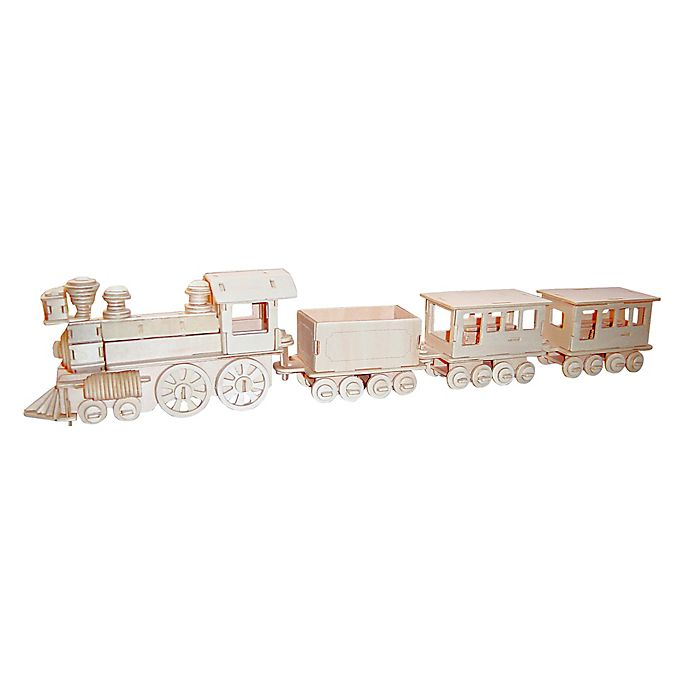 Alternate image 1 for Puzzled Train 130-Piece 3D Wooden Puzzle