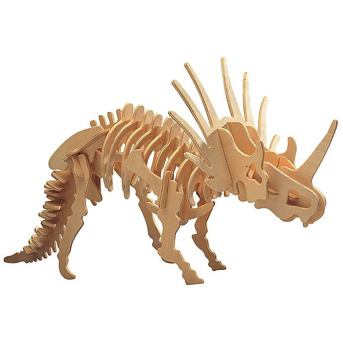Alternate image 1 for Puzzled Styracosaurus 41-Piece 3D Wooden Puzzle