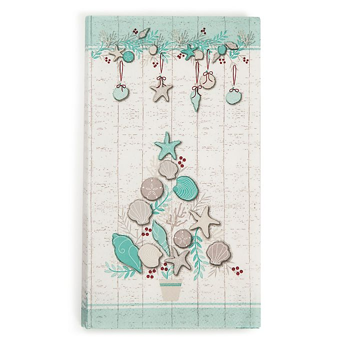 Paper Guest Towels Bathroom: Coastal Christmas 20-Count Paper Guest Towels