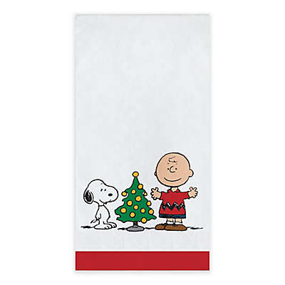 Peanuts® Christmas 20-Count Paper Guest Towels
