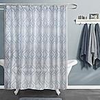 Maytex Primrose Shower Curtain in Blue/White