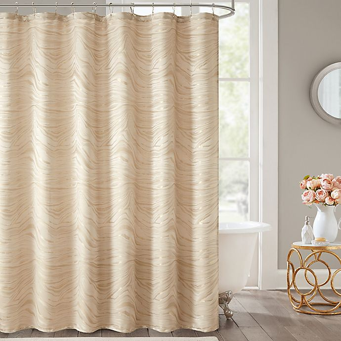 Bed Bath And Beyond Bathroom Curtains.Turin Shower Curtain In Gold Bed Bath Beyond