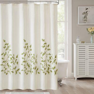 Jillian Shower Curtain In Sage Bed Bath Amp Beyond