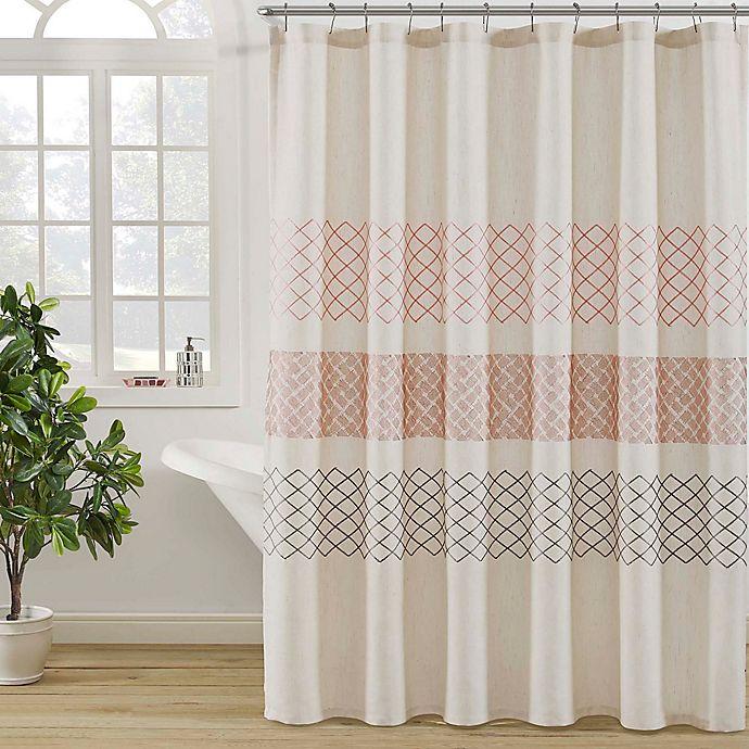 Alternate image 1 for KAS ROOM Nola Shower Curtain in Linen