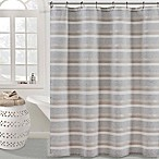 KAS ROOM Zerna Shower Curtain in Silver