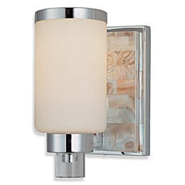 Minka Lavery® Cashelmara Vanity Semi-Flush Mount Sconce in Chrome with Etched Glass Shade