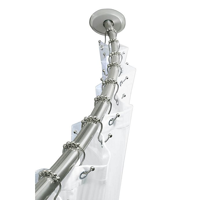 An Stainless Steel Dual Install Curved Shower Rod