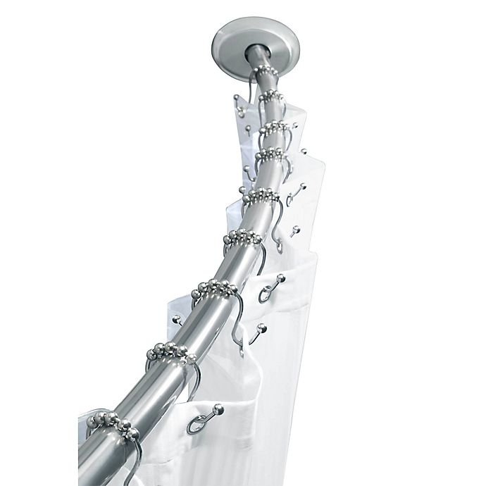 Alternate image 1 for TITAN™ Stainless Steel Dual Install Curved Shower Rod in Chrome