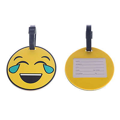 Formations Happy Cry Emoji 4-Inch Luggage Tag in Yellow