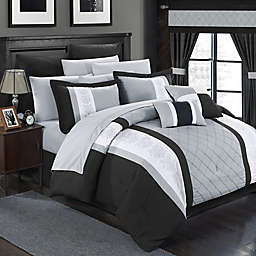 Chic Home Melanie 24-Piece King Comforter Set in Black/Grey