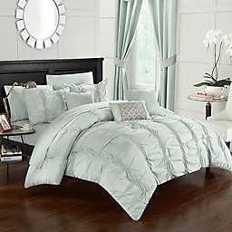 Chic Home Voni 10-Piece Queen Comforter Set in Green